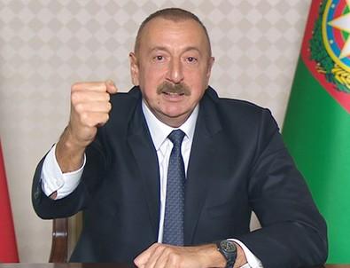 Aliyev dünyaya ilan etti: Düşmanı topraklarımızdan kovduk