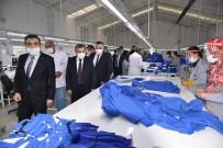 Vali Işık, Saya Ve Tekstil Fabrikasında İncelemelerde Bulundu