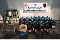 Tomarza'da 700 Litre Kaçak İçki Ele Geçirildi