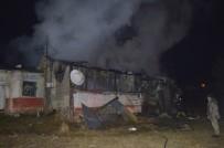 Ağrı'da Ev Yangını Açıklaması 1 Yaralı