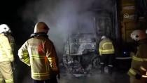 Kırıkkale'de Seyir Halindeki Şeker Pancarı Yüklü Kamyon Alev Aldı