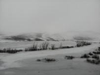 Kars'ın Soğuğu Baraj Dondurdu