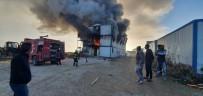 Burdur'da İşçilerin Kaldığı Konteynırda Yangın Çıktı