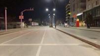 Kırşehir'de, Sokaklar Boş Kaldı, Polis Güvenlik Tedbirlerini Uyguluyor