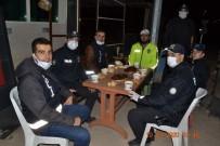 Sınır İlçesinde Uygulama Yapan Polislere Çorba İkramı