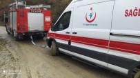 Hasta Almaya Giderken Mahsur Kalan Ambulansı İtfaiye Kurtardı