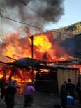 Artvin'de Kereste Atölyesinde Çıkan Yangında Korku Dolu Anlar Yaşandı