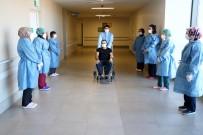 Korona Virüse Yakalanan Sağlık Çalışanı Alkışlar Eşliğinde Taburcu Oldu