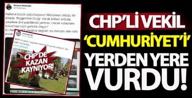 CHP'li Mehmet Bekaroğlu Cumhuriyet'İ yerden yere vurdu!
