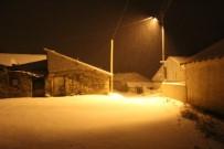 Ağrı'da Gece Yarısı Yağan Kar Etrafı Beyaza Bürüdü