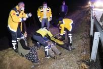 Ticari Araç Menfeze Çakıldı Açıklaması 3 Yaralı