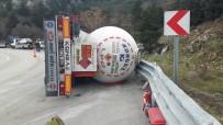 LPG Tankeri Yan Yattı