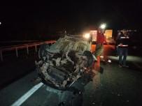 Tıra Arkadan Çarpan Otomobil Takla Attı Açıklaması 2 Yaralı
