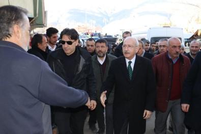 CHP Lideri Kemal Kılıçdaroğlu, Malatya Deprem Bölgesinde