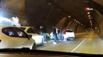 DOLAPDERE - Asker Uğurlamak İçin Tüneli Kapattılar, Motosikletle Drift Yaptılar