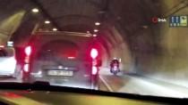 DOLAPDERE - (Özel) Asker Uğurlamak İçin Tüneli Kapattılar, Motosikletle Drift Yaptılar
