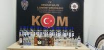 KAÇAK İÇKİ - Denizli'de 131 Şişe Kaçak İçki Ve 256 Litre Sahte Alkol Ele Geçirildi