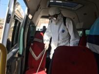 Mazıdağı'nda Toplu Taşıma Ve Öğrenci Servis Araçları Dezenfekte Edildi