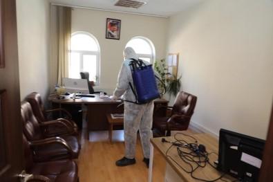 İncesu'da Ortak Kullanım Alanları Dezenfekte Edildi