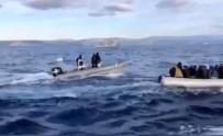 Yunanlıların Ölüme Terk Ettiği Göçmenleri Sahil Güvenlik Kurtardı