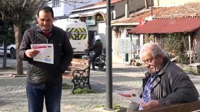 Kırklareli'nde Koronavirüs Nedeniyle Sokaklardaki Banklar Kaldırıldı