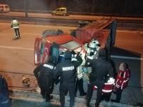 LÜTFİ KIRDAR - TEM Otoyolu Bağlantısında Korkunç Kaza; 2 Kişi Ağır Yaralandı