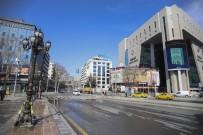 ZİYA GÖKALP - (Özel) Korona Virüs Sebebiyle Başkent'te Sokaklar Boş Kaldı
