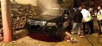Park Halindeki Araçta Çıkan Yangını İtfaiye Söndürdü