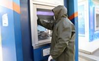 ÖĞRENCİ YURTLARI - Akhisar Belediyesi ATM'leri Dezenfekte Ediyor
