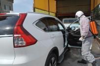 ZEYTIN DALı - İş Yerine Gelen Araçları Bedava Dezenfekte Ediyor