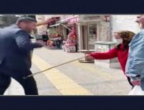 SEMPATIK - Yaşlı çifte koronavirüs uyarısı yapan Belediye Başkanı, nineden bastonu yedi