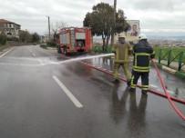 İTFAİYE ARACI - Bursa Sokaklarında 'Covid-19' Temizliği