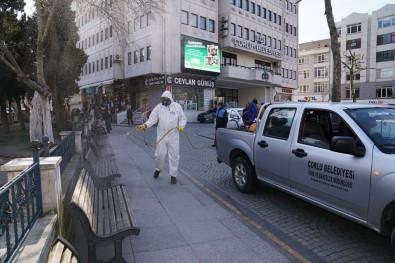 Çorlu'da Meydanlara Korona Virüs Temizliği