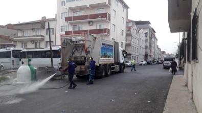 Çorlu Belediyesi Ekipleri 7 Gün 24 Saat Sahada Çalışıyor
