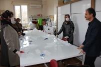 BOKS - Kursiyer Kadınlar Maske Üretimine Başladı