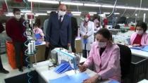 ALI YıLDıZ - Amasya'da Çanta Fabrikasında Ücretsiz Maske Üretimi Başladı