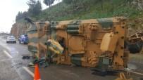 ASKERİ ARAÇ - Kahramanmaraş'ta Askeri Araç Devrildi Açıklaması 2 Yaralı