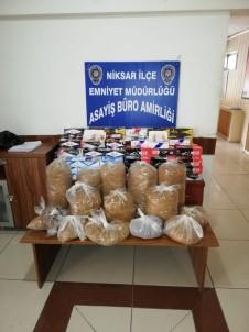 Niksar'da 34 Kilogram Kaçak Tütün Ele Geçirildi