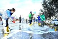 İVEDİK ORGANİZE SANAYİ BÖLGESİ - Mamak'ın Dört Bir Yanı Dezenfekte Ediliyor