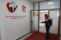 Mazıdağı'nda Kamu Kurumları Dezenfekte Edildi
