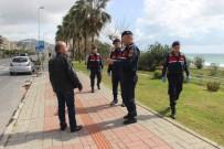 MAHMUTLAR - Alanya'da Jandarma 5 Ayrı Dilde Anons Yaparak Korona Virüse Karşı Uyardı