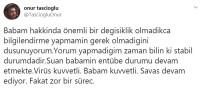 ÇAPA TIP FAKÜLTESİ HASTANESİ - 'Virüs Kuvvetli, Babam Kuvvetli, Savaş Devam Ediyor'