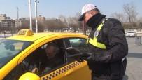 TAKSIM - Taksim'de Ticari Taksi Ve Otobüslere Uygulama