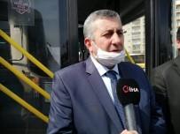 ESNAF ODASı BAŞKANı - İstanbul'da Özel Halk Otobüslerinde Korona Virüs Önlemi