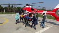 AMBULANS HELİKOPTER - Patpat Kazasında Yaralanan Genç Ambulans Helikopterle Hastaneye Kaldırıldı