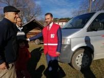 Türk Kızılayından Evi Yanan Aileye Yardım
