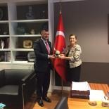 Başkan Koyuncu'dan Brüksel Başkonsolosu Dilşad Kırbaşlı Karaoğlu'na Ziyaret