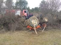 Tarlaya Gübre Taşırken Devrilen Traktörün Altında Kaldı