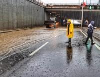 YAĞMUR SUYU - DİSKİ, Sağanak Yağış Nedeniyle 21 Ekip Ve 55 Personelle Çalışma Yaptı