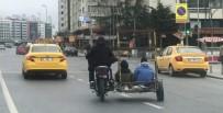 MOTOSİKLET SÜRÜCÜSÜ - (Özel) İstanbul'un Göbeğinde Tehlikeli Yolculuk Kamerada